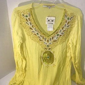 NWT Unique Zara Basic Embroidery Shirt M